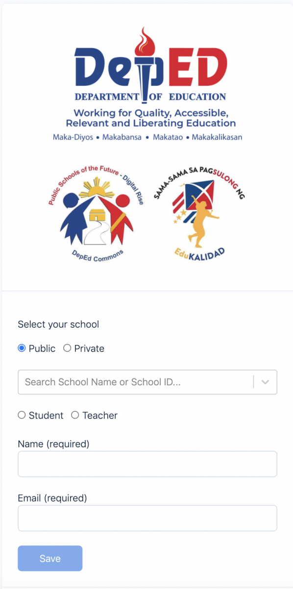 Image of the login page of the DepEd Commons eResource Repository