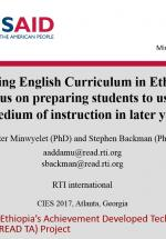 Revising English Curriculum in Ethiopia | SharEd